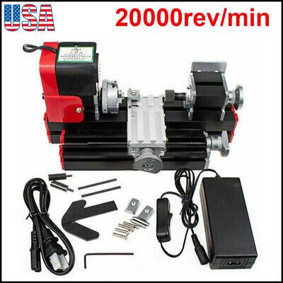Miniature Multifunction Diy Cnc Metal Motorized Mini Lathe Machine 20000rmin Us
