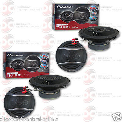 4 X Brand New Pioneer 6 5 Inch 6 1 2  Car Audio 4 Way Coaxial Speakers