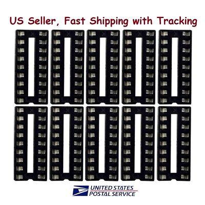 10 Pc 18 Pin Dip Ic Sockets Adaptor Solder Type Socket - Us Seller Fast Shipping