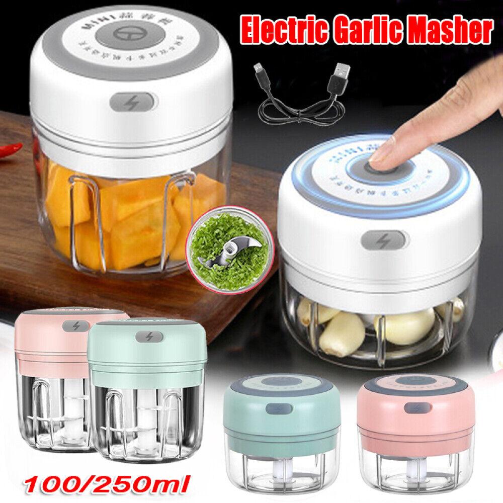 Electric Mini Garlic Chopper Meat Grinder Crusher for Fruit Vegetable Food A SQ