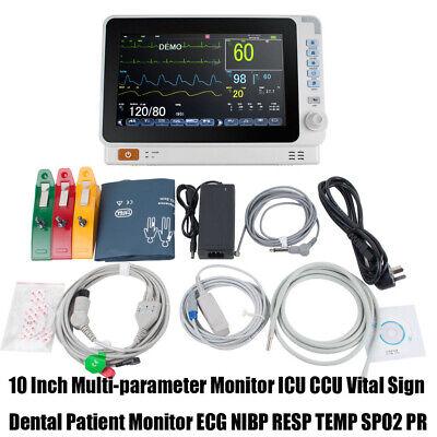 10inch Medical Patient Monitor 6-parameter Icu Ccu Vital Sign Cardiac Machine
