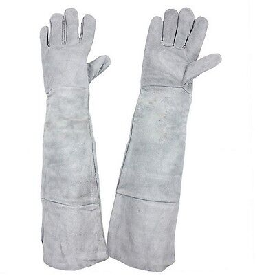 1pair Long Cuff Leather Welding Protective Gloves Welder Cowhide Hand Gloves New