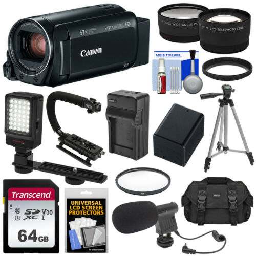 Canon - Vixia Hf R800 Hd Flash Memory Camcorder - Black
