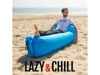 INFLATABLE LOUNGER With BACK PILLOW - Good For Travel, Beach, Holiday, Pool, Garden, Camping, Skiing