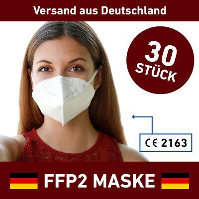 FFP2 Atemschutzmaske 30 x Mundschutz 5 lagig Hygienemaske Maske Mund LUYAO
