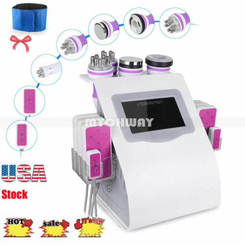 .6in1 Cavitation Radio Frequency RF Vacuum Slimming Cellulite Ultrasonic Machine
