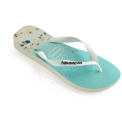 New Havaianas Flip Flops Sandals Beach Scene Womens Sz 9 /10 US