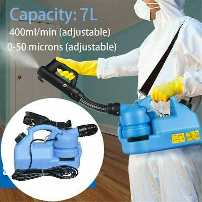 7L Electric ULV Fogger Sprayer Disinfection Fogging Machine Home Garden 220V