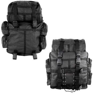2pcs Motorcycle Leather Sissy Bar, Saddle, Luggage Bag Tour Tail Motorbike Bags