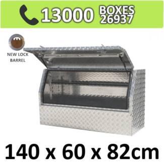 Aluminium Side 3/4 Opening Toolbox Truck Ute Trailer Box 1468HD
