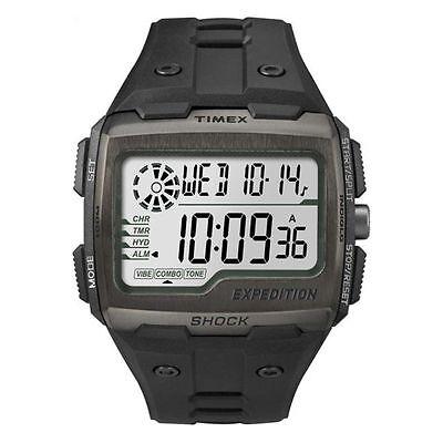 Timex TW4B02500, Expedition Grid Shock Chronograph Watch, Indiglo, TW4B025009J