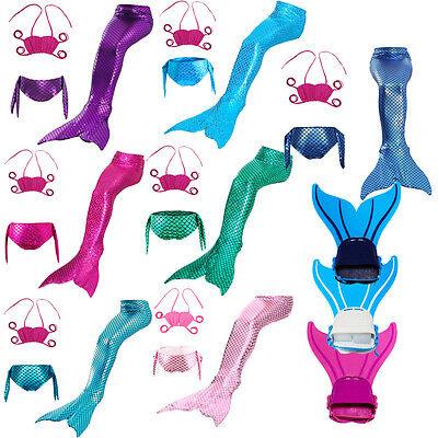 Kids Girls Women Fin Fairy Mermaid Tail Monofin Swimmable Swimming Swim Costume - Fairy Kid Costumes