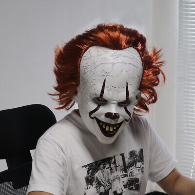 Joker Pennywise Maske Stephen King es Kapitel zwei 2 Cosplay Latex beängstigend