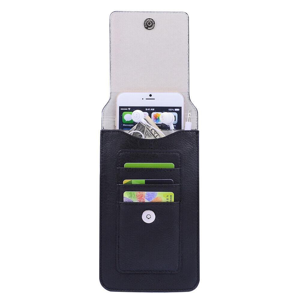 Faux Leather Case Belt Clip Holster for LG V50 ThinQ / V40 T