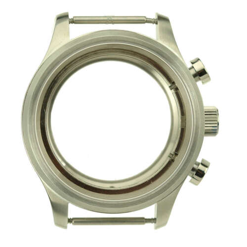 41.5mm German Made 316L Steel Watch Case Sapphire fit ETA 7750 Chronograph