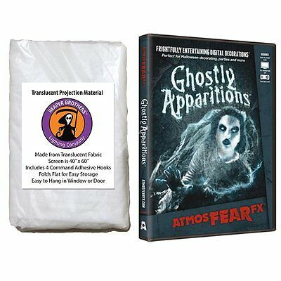 AtmosfearFX Ghostly Apparitions DVD + Reaper Bros® Window Projection Screen  (Ghostly Apparitions Dvd)