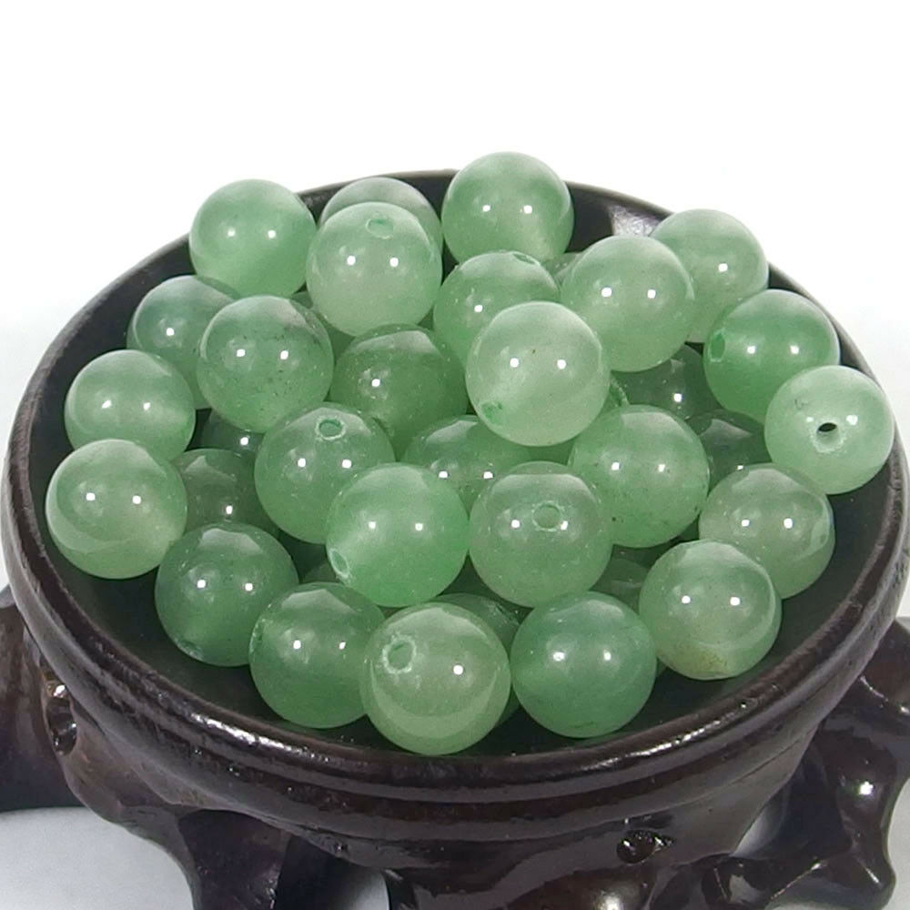 Bulk Gemstones I natural spacer stone beads 4mm 6mm 8mm 10mm 12mm jewelry design green aventurine