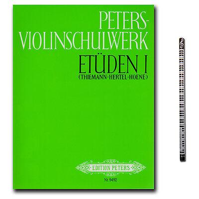 Peters-Violinschulwerk Etüden - Band 1 - C.F. Peters - EP9492 - 9990050174541