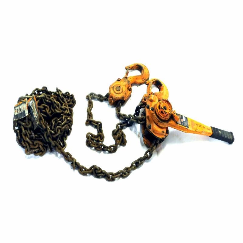 "Harrington LB060 6-Ton Capacity Manual Chain Lever Hoist 21.3"" Headroom"
