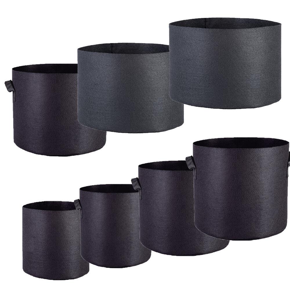 3 6 12 24 PACK Grow Bags Fabric Pot 1 2 3 5 7 10 15 20 25 30