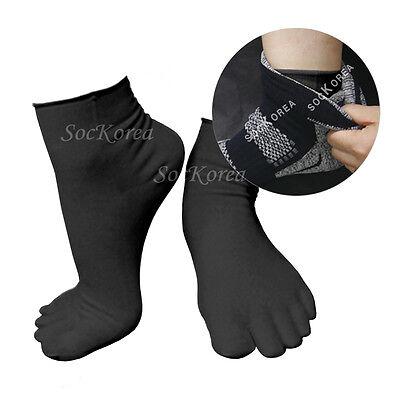 6 Pairs Lot Mens Black Performance Lightweight Wick Dry Liners Cotton Toe Socks