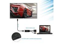 Gold Plated VGA to HDMI Converter: Desktop/Laptop Computer/HD TV Box to HDTV TV/Monitor/Projector