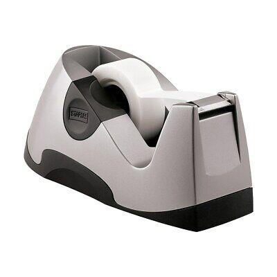 Staples Executive Desktop Tape Dispenser Silver Each 13566 649245