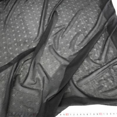 Rauten Netz-Stoff mit Stretch feine zarte transparente Meterware mit Elastisch (Argyle Stoff)