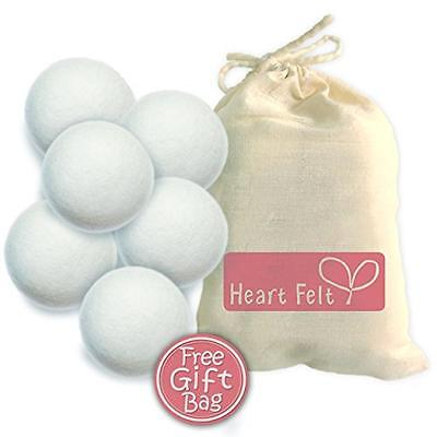 Six Wool Dryer Balls By Heart Felt - The BEST RATED Dryer Ball Brand on Amazon!