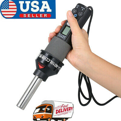 Lcd Display Electronic Hot Air Heat Gun Soldering Station W 4 Nozzles 200w K9s6