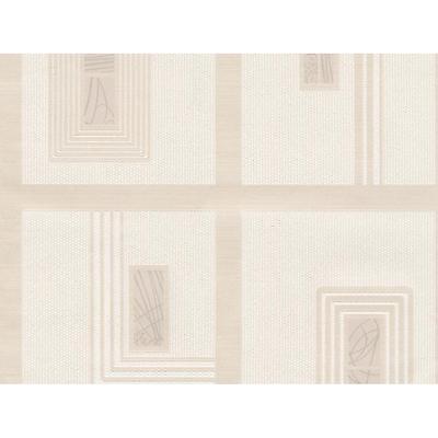 1901 Wallpaper - BELGRAVIA MODA GIANNI SQUARE PATTERN EMBOSSED STRIPE GLITTER WALLPAPER CREAM