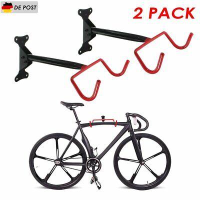 2 Stk Fahrrad Wandhalter Klappbar Fahrradhalter Wandhalterung Bike Rack Rot