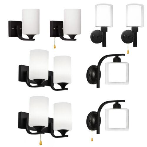 Modern LED Glass Wall Sconce Lamp Bedroom Hallway Wall Light