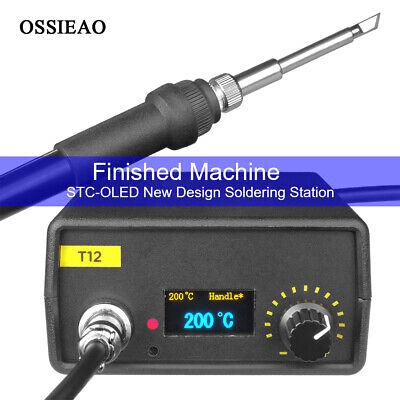 110v 220v Oled Digital Soldering Iron Station T12 Handle Finished Controller