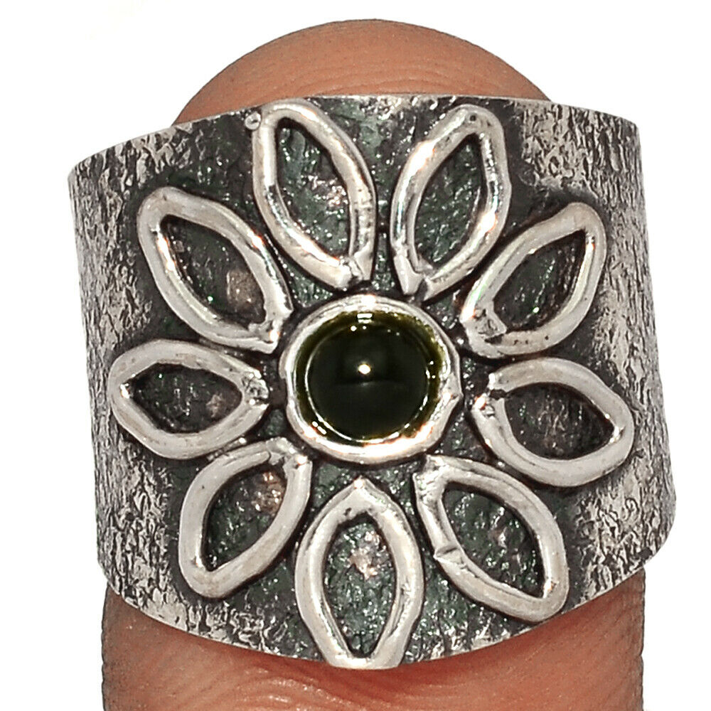 Black Onyx - Brazil 925 Sterling Silver Ring Jewelry S.8 BR28531 219G - $12.99