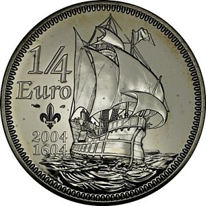 France-1-4-Euro-SILVER-2004-2008-Prooflike-Larger-Silver-Coin