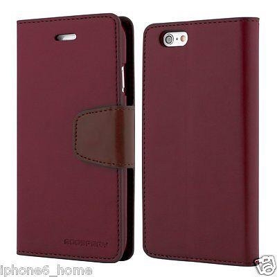 iPhone 5 5s SE Genuine MERCURY Goospery Maroon Flip Case Wallet Cover FREE Post (Ip5 Wallet)