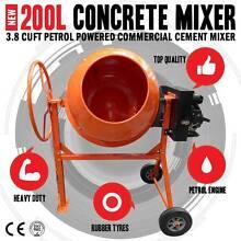 Commercial 200L 3.8 Cuft Petrol Powered Concrete Cement Mixer Bakery Hill Ballarat City Preview