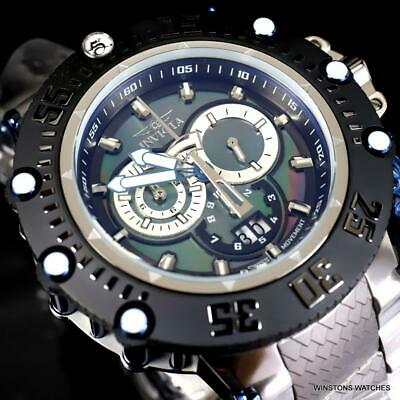 Invicta Subaqua Noma VII Black MOP Stainless Steel Swiss Mvt Watch 52mm New