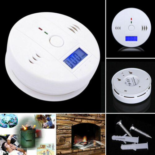 2Pcs LCD CO Carbon Monoxide Detector Poisoning Gas Warning S