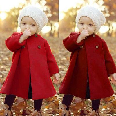 Toddler Infant Kids Baby Girls Fall Outerwear Long Windbreaker Cloak Jacket Coat