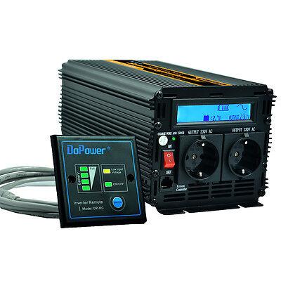 1000W/2000W Reiner Sinus Spannungswandler 12V 230V Wechselrichter Inverter LCD