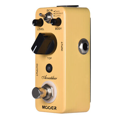 MOOER Acoustikar Acoustic Guitar Simulator Effect Pedal True Bypass with 3 K3M6
