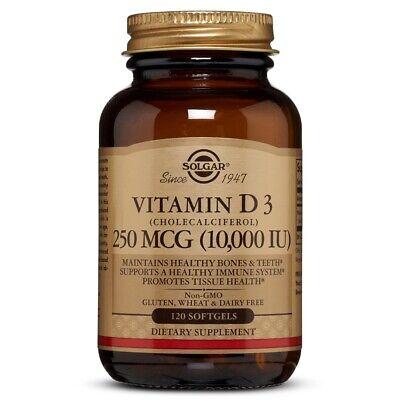 Solgar Vitamin D3  10,000 IU, 120 Softgels FREE US SHIPPING