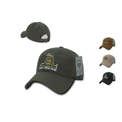 - Gadsden Flag Rattlesnake Tea Party Don't Tread on Me Baseball Dad Caps Hats Polo