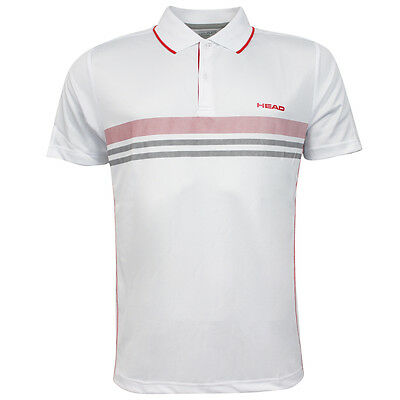 Head Club Polo Shirt with Technical Mens White Short Sleeve Shirt 811655 RW60