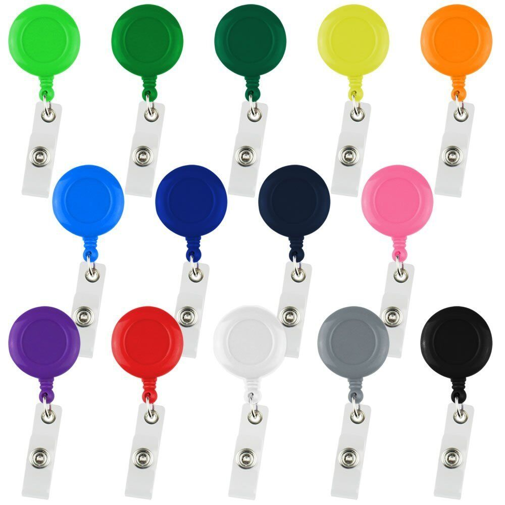 5x Retractable Reel Recoil ID Badge Lanyard Name Tag Key Card Holder Belt Clip a