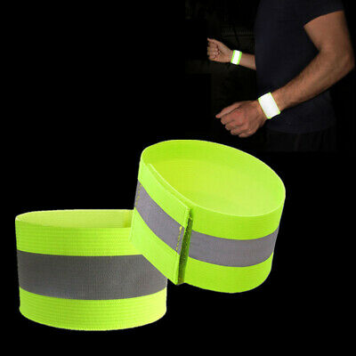 Reflektorband Kinder Reflektor-Armband Fahrrad Leuchtband Joggen Jogger Gelb NEU