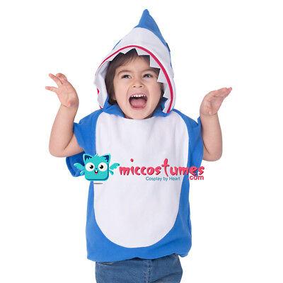 Little Shark Halloween Costume Toddler Mascot Hoodie for Kids Boys Girls (Toddler Costumes Halloween)