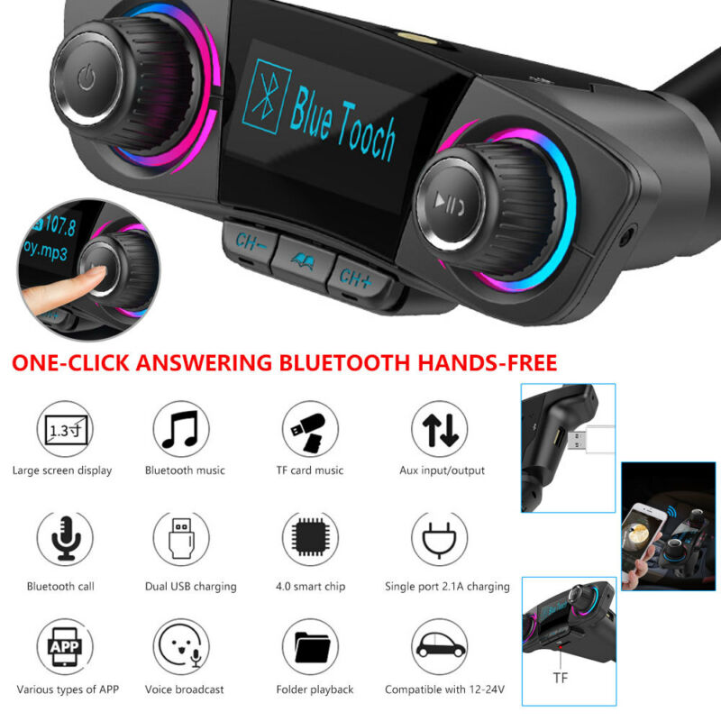 Wireless Bluetooth Car MP3 Player FM Transmitter Radio LCD U